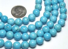 BLUE KINGMAN TURQUOISE 8mm Round Beads AA-AA+ Natural Color-6pcs