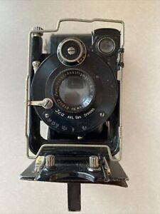ICA  Act Ges Dresden lens Novar-Anastigmat 1:6.8 f10.5 Folding Camera