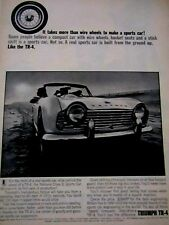 "1963 Triumph TR4 Takes More Than Wire Wheels Original Print Ad-8.5 x 11 """