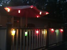 Blow Mold Party Lights Tiki Patio Camper Indoor/Outdoor Vintage 7 lamps