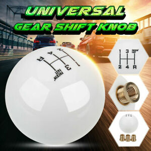 Universal 5 Speed White Round Ball Car Manual Gear Shift Knob Shifter AU Stocked