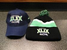 2 Hats Seattle Seahawks 2015 XLIX Super Bowl hats Stocking & Ball cap  _______R1
