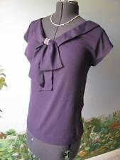 Love Moshino Gorgeous Purple Jeweled Bow Evening Top Size 6 NWT $250