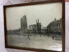 Grande photo ARRAS guerre ruines 1916 soldats WW1 1914 1918 39cm x 29cm