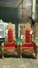1 x Gold and Red 180cm high Lion King Throne chair