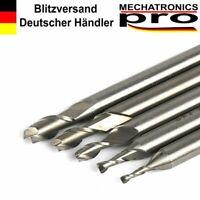 2 Schneiden HSS Schaftfräser für Aluminium, Alufräser Ø 2,0 - 6,0mm CNC