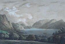 Aft.JOSEPH FARINGTON (1747-1821) ANTIQUE PRINT WTH COLOUR DERWENT c1900