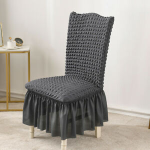 Chair Cover for Dining Room Banquet Chair Slipcover Stretch Chair Skirt Elastic