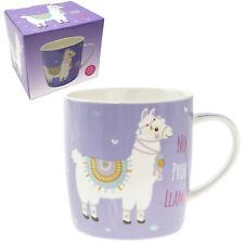 Sans Prob Lama Violet L Tasse en Porcelaine Fine à Thé Café Boite de Cadeau