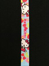 USA Seller Hello Kitty Strawberries Lanyard Strap Keychain ID Badge Card Holder
