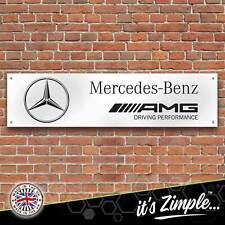 Large MERCEDES BENZ AMG Banner Garage Workshop Sign Printed PVC Display
