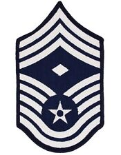 USAF Chevron (AF-C311/L) Chief Master Sgt w/ Diamond Blue and White Large (Pair)