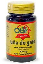 Cat's Claw Dry Extract 500MG - 100Tabs. Obire uña de gato - FREE SHIPPING !