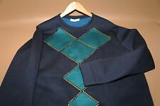 #54 Versace Collection Neoprene Studded Sweat Shirt Size L