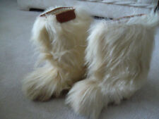 Vintage Vera Pelle Light Goat Hair / Fur Snow Boots