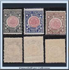 1921 Italia Regno Venezia Giulia n. 113/115 Nuovi Integri **