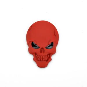 3D Metal Skull Emblem Sticker Skeleton Skull Decal Badge ATV, UTV, Truck Car X 2