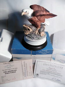 "ROYAL HERITAGE AMERICANA COLL. ""BIRDS IN FLIGHT"" AMERICAN BALD EAGLE LTD. EDIT."