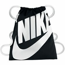 NIKE HERITAGE DAY PACK GYM SACK Unisex Bags BA5351-011 DIGITAL BLACK/WHITE