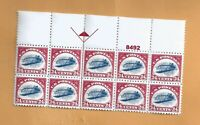 """Scott #C3a - Plate block of 10 - """"PEPRODUCTION""""  FREE S & H IN THE  USA"""