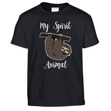 Funny Lazy Kids T Shirt My Spirit Animal Is A Sloth Sleepy Joke Novelty Tshirt