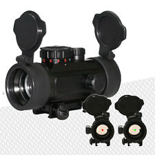 Tactical Reflex Red/Green Dot Sight Scope Flip-up Lens Covers and 20mm Mounts
