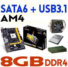COMBO AMD RYZEN 5 1500X QUAD CORE CPU+8GBDDR4 RAM+BIOSTAR A320MH PRO Motherboard