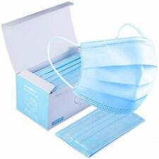 Lot 50 Masques 3 Couches Protection avec réglage flexible sur le nez