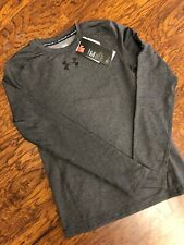 Under Armour UA Charcoal Graphite Fitted Long Sleeve Cold Gear Shirt Youth Small
