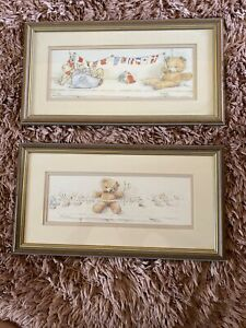 2 children's Limited Edition teddy Bear Prints By Ann Stull