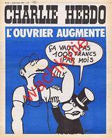 Charlie Hebdo n°81 du 05/06/1972 Wolinski ouvrier patron Cabu à Reims