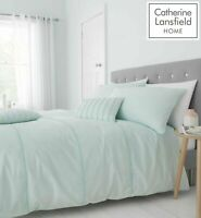 Catherine Lansfield Luxury Pom Pom Duvet Cover Bedding Set Mint Green Free P&P