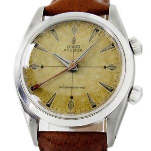 Tudor Alarm Heritage 7926 Advisor Rare Tropical Gilt Patina Original Dial Watch