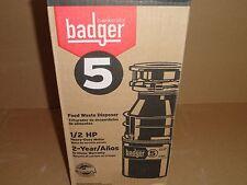 New InSinkerator Badger 1/2 HP Food Waste Disposer/Garbage Disposal 5