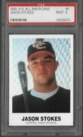 2000 High School All Americans Jason Stokes #1 PSA 9 MINT Rookie Card