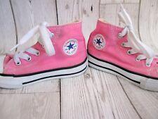 Girls Pink Converse Boots Pumps UK Sz 6 EU 22 Baseball Shoes Designer Trainers