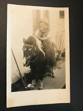 Little Boy Dressed as Cowboy on Pony RPPC Los Angeles 98th Street Cowboy