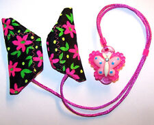 Children 2 sided Cochlear Implant stretchy COVERS SAFETY RETAINER CLIP BUTTERFLY