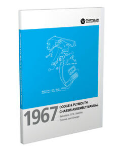 1967 Plymouth Chassis Assembly Manual GTX Satellite Belvedere Factory