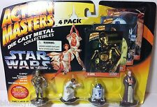 Star Wars Action Master Die Cast Metal Collectibles C3PO Leia R2D2 Obi-Wan