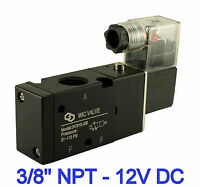 """Pneumatic 3 Way Electric Directional Control Air Solenoid Valve 12V DC 3/8"""" Inch"""