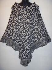 Wholesale Lot 3 Poncho Sweater Fits S M L Xl 1X 2X Plus Leopard Free Ship Knit