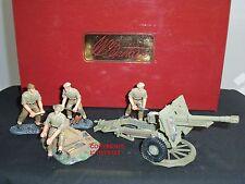 BRITAINS 17587 BRITISH 25LB FIELD GUN + METAL TOY SOLDIER FIGURE CREW SET