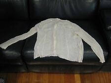 Mossman Women's Ivory light weight blouse, size 12, used, in good condition!