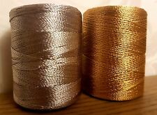 6 x Silk art gold & silver large 550m Rayon Machine Embroidery Thread Spools