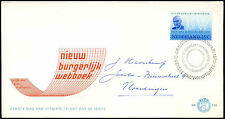 Netherlands 1970 Civil Code FDC First Day Cover #C27416