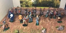 21-Metal Confederate CSA Civil War Figures Diorama 54mm 1/32 Mixed Makers
