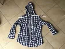 Girl Voi Checked Blouse With Hood Size Xs