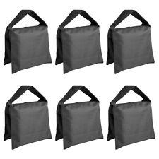 Neewer 6 Pack Black Sand Bag Saddlebag for Photo Video Film Light Stand Tripod