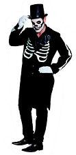 Gr 54 FRACK SKELETT Mantel Kostüm Anzug Halloween Day Dead Herren Horror 14833